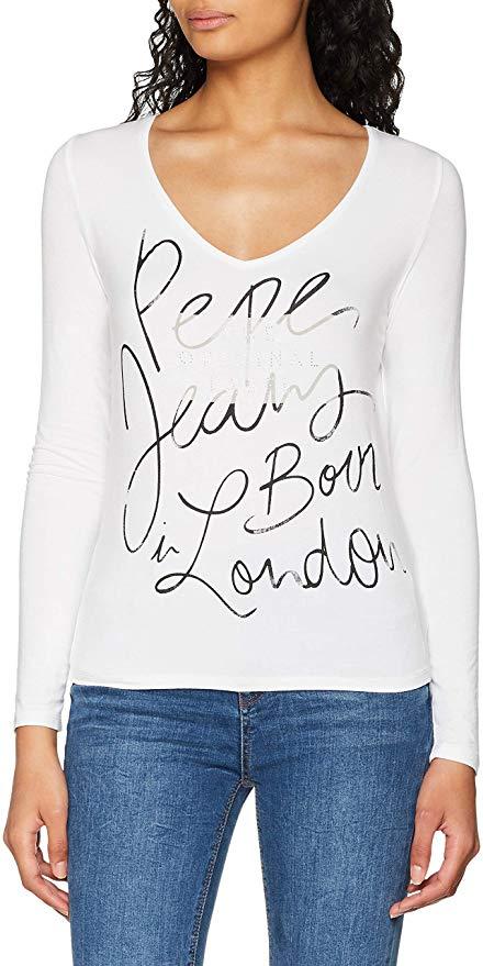 Camiseta con cuello de pico para mujer / chica