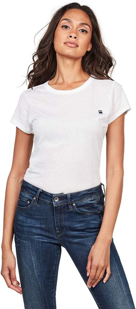 Camiseta con cuello redondo para mujer / chica