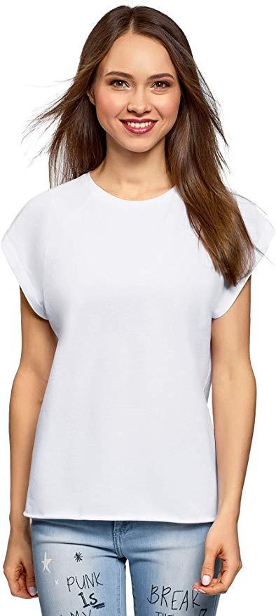 Camiseta de algodón de manga corta para mujer/chica