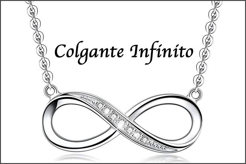 Colgante y collar con simbolo infinito