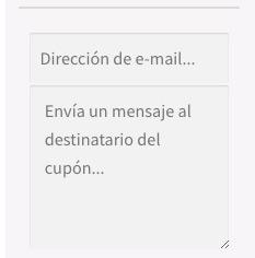 Comprar Tarjeta Regalo (Indicar correo y mensaje para el receptor)