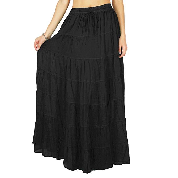 Falda larga para mujer chicha femenina