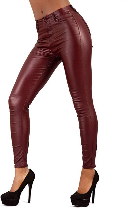 Pantalónes de cuero para chicas - mujeres